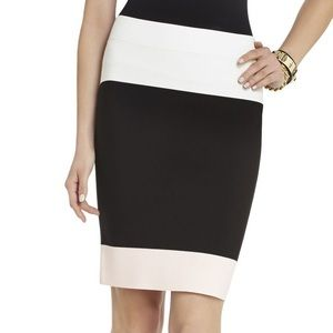 BCBGMaxAzria | Stretch Color Block Skirt NWOT